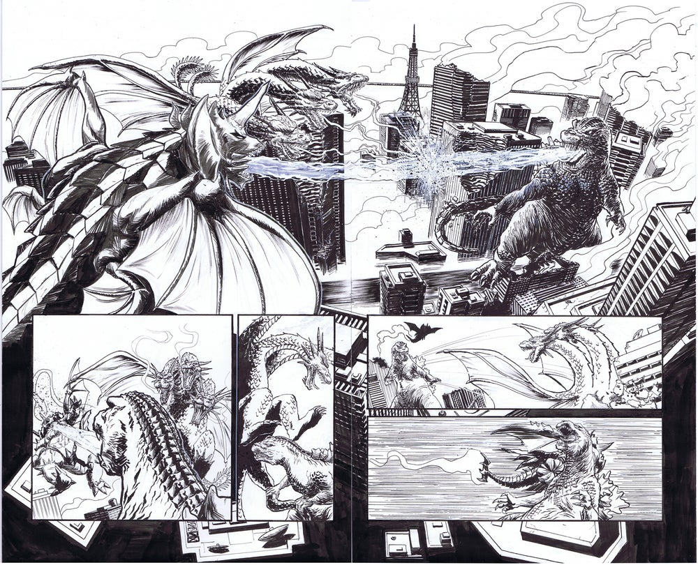 Image of Godzilla In Hell #4 pages 4&5