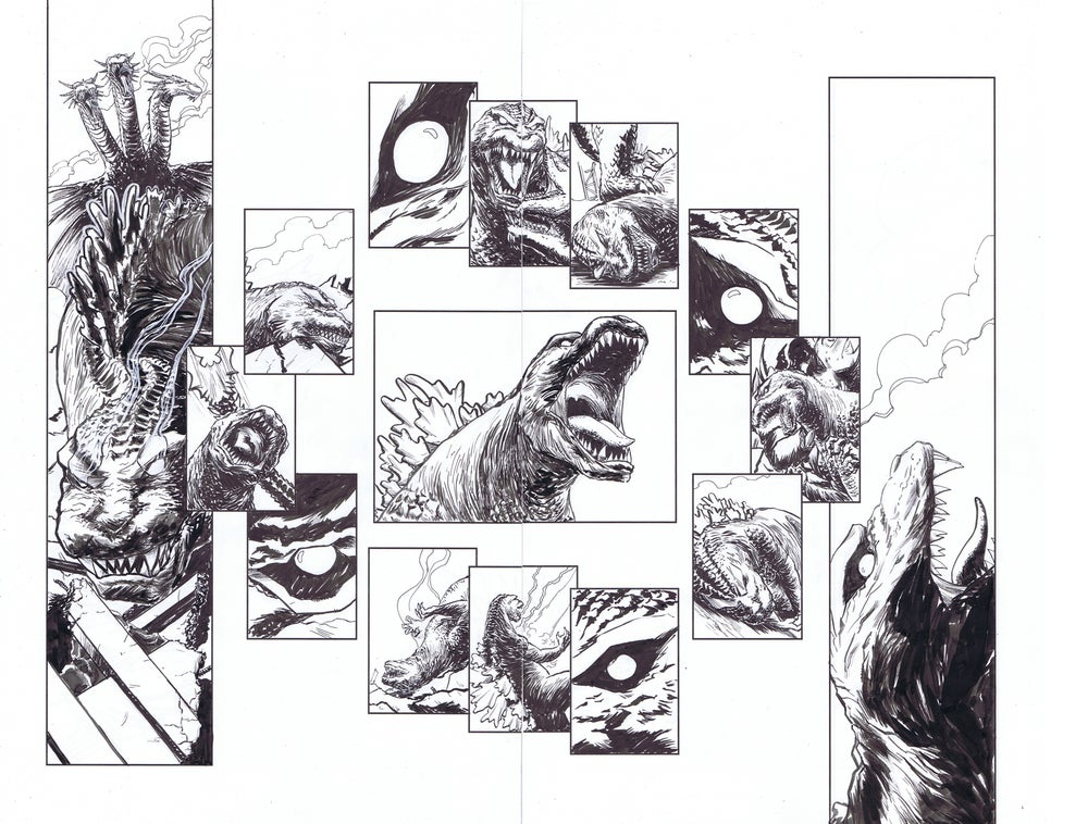 Image of Godzilla In Hell #4 pages 14&15