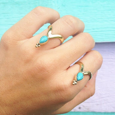 Image of Turquoise Priestess Ring |Shantique Designs|