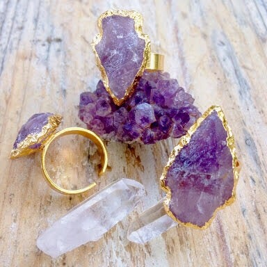 Image of Amethyst Arrowhead Ring |Shantique Designs|