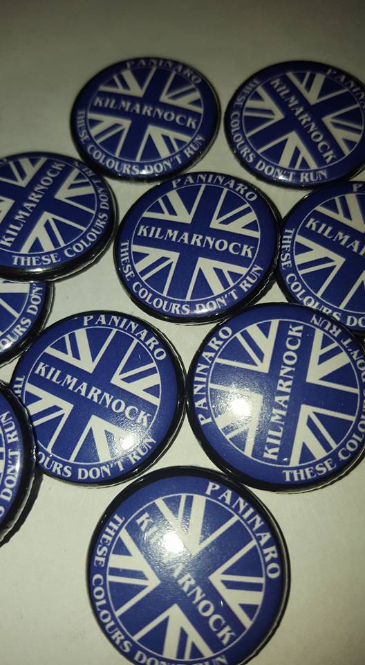 Image of Kilmarnock Paninaro Brand New 25mm Football Ultras/Casuals Badges.
