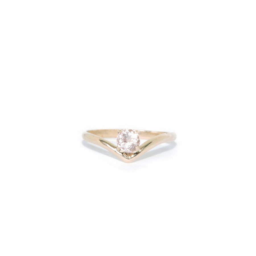 Image of morganite balance ring