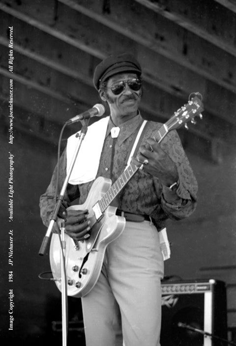 Image of Original 1984 Chuck Berry Limited Edition Fine Art Print Set