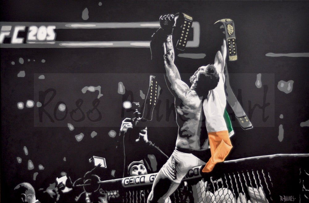 Image of 'DOUBLE CHAMP' (A3 art print)