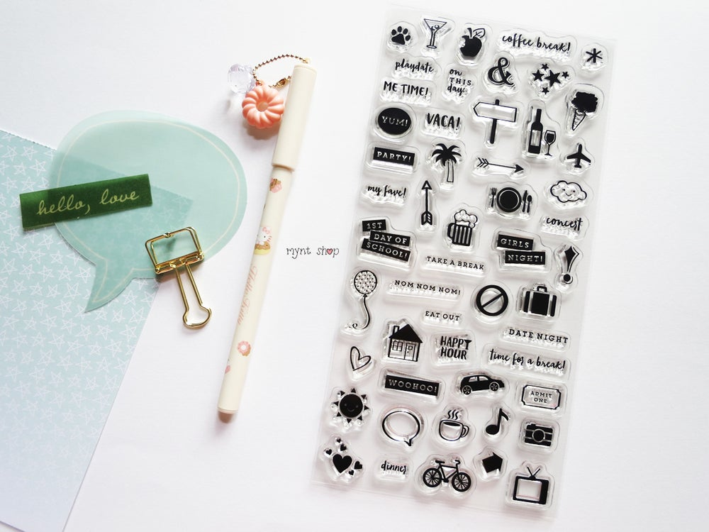 Image of Planner Kit Clear Stamps