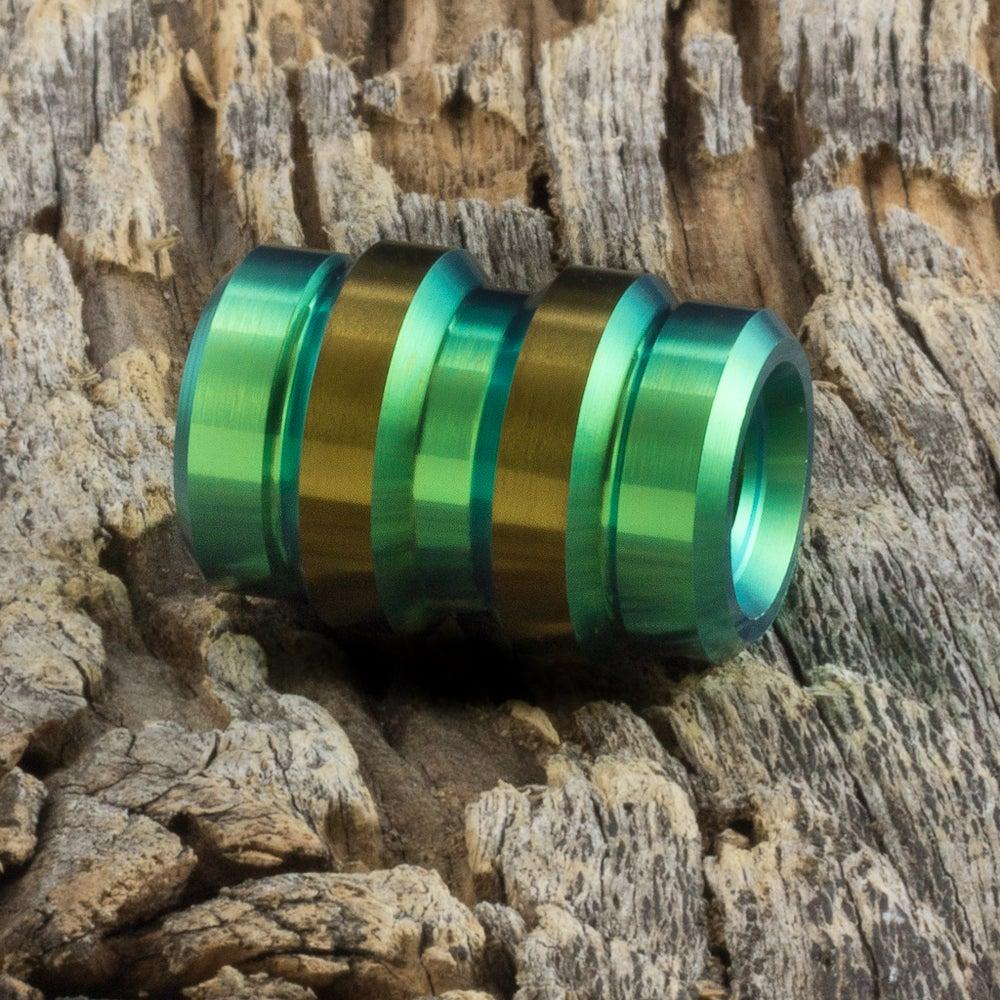 Image of Keg Green & Bronze Ti Bead #1