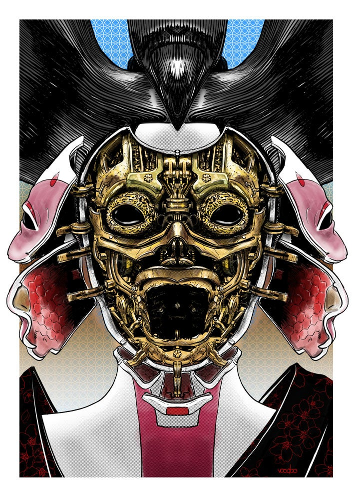 Image of Ghost In The Shell Robot Geisha Assassin