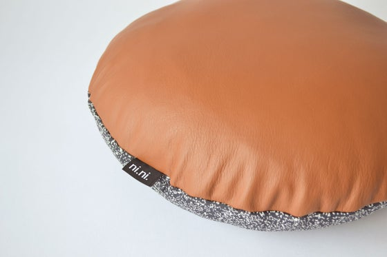 Image of NEW! Leather Galaxy Cushion Cover - Round