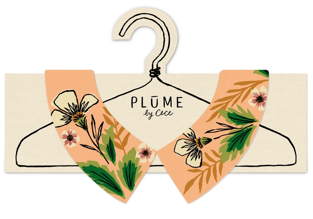 Image of Peach Fern - Faux Collar (NEW girl size available) see options