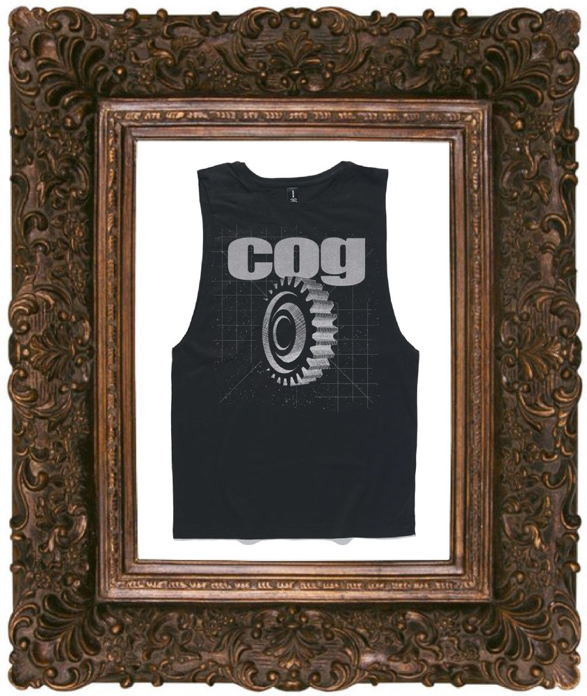 Image of Unisex Muscle Tank w/ Silver Metallic Print