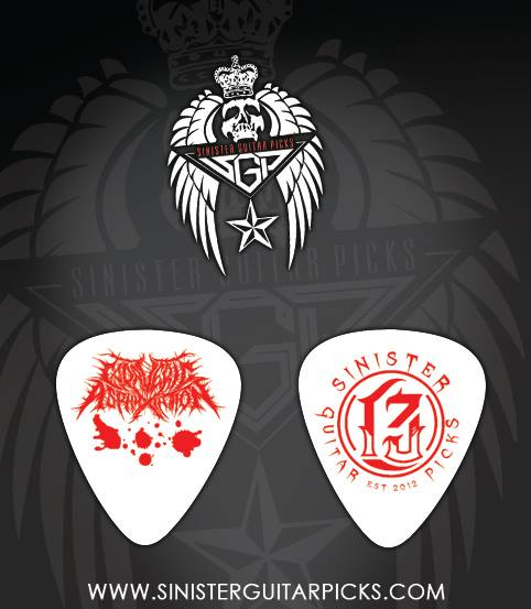 "Image of Bloody Guitar Pick, ""White"" .88mm"