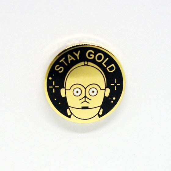 Image of Stay Gold Pin