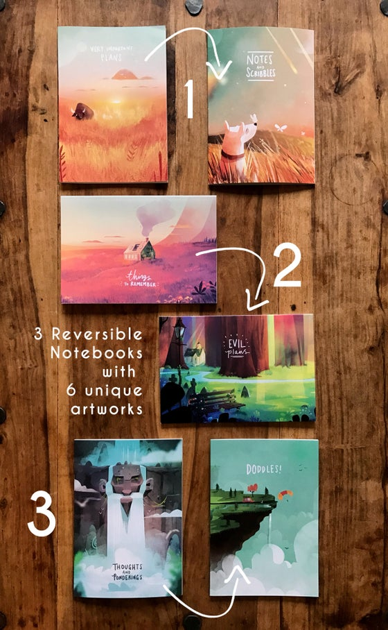 Image of 3 x A5 Reversible Notebooks