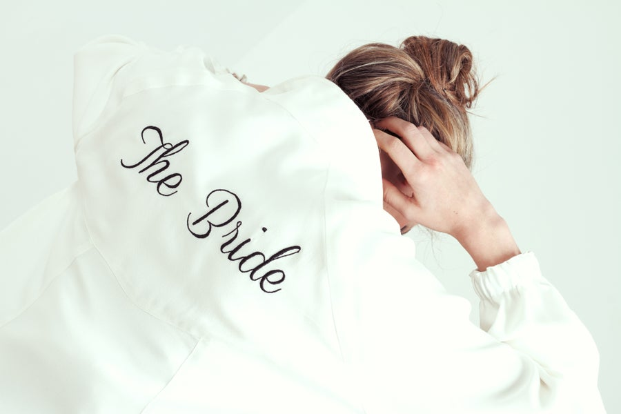 "Image of Customized Embroidered Jacket ""The Bride"""