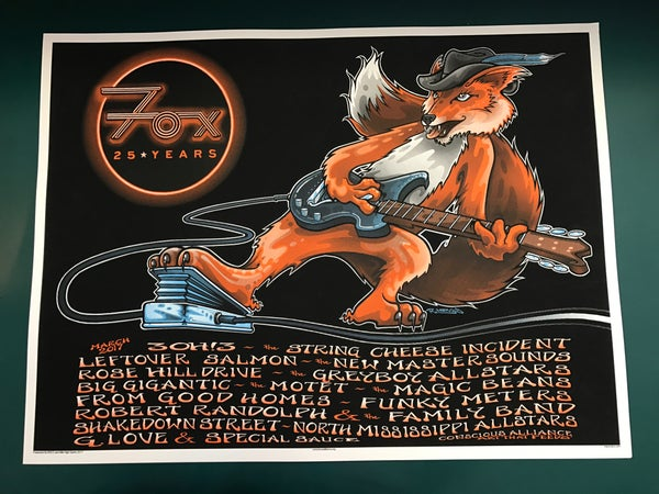 Image of Fox Theatre 25th Anniversary Poster