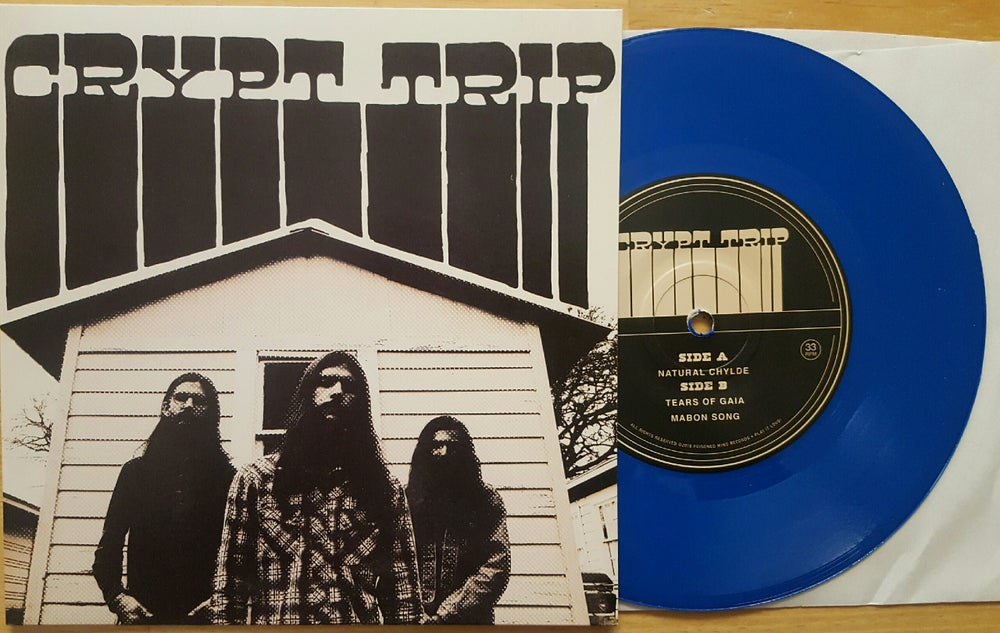 "Image of Crypt Trip: Mabon Songs 7"" Translucent Blue Vinyl w/Patch 113 copies"