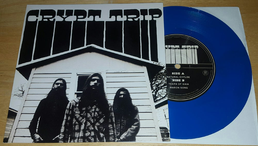 "Image of Crypt Trip: Mabon Songs 7"" Opaque blue 24 copies"