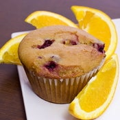 Image of cranberry orange muffin