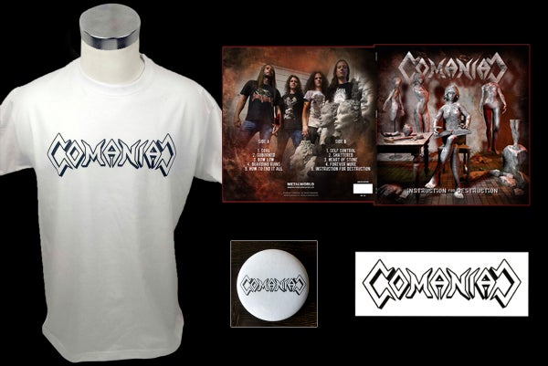 Image of COMANIAC - Instruction for destruction - Box Set incl. LP, shirt, sticker & button (lim. 66 copies)