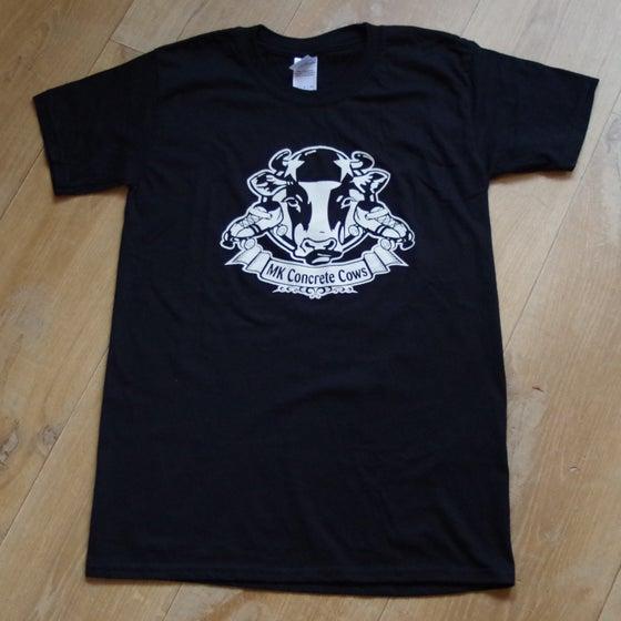 Image of Black Concrete Cows Shirt