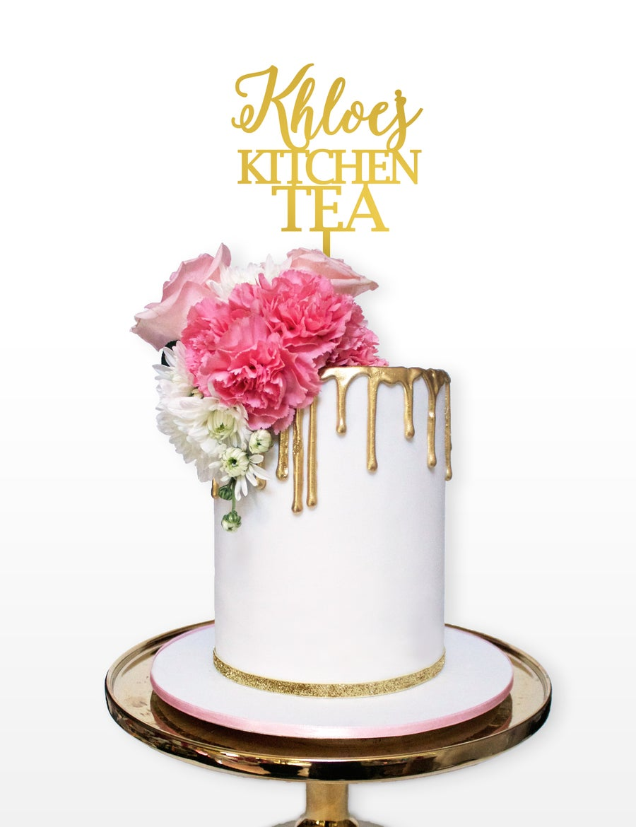 Kitchen Tea Cake Alison Caroline Designs Bridal Shower Kitchen Tea Cake Toppers