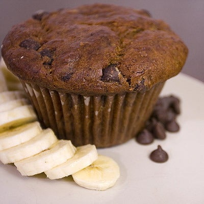 Image of banana chocolate chip muffin