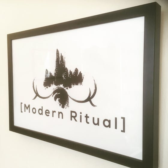 Image of [Modern Ritual] Poster (framed view)