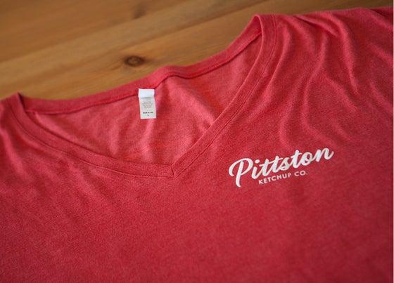Image of Pittston Ketchup Co. Women's V-Neck T-Shirt