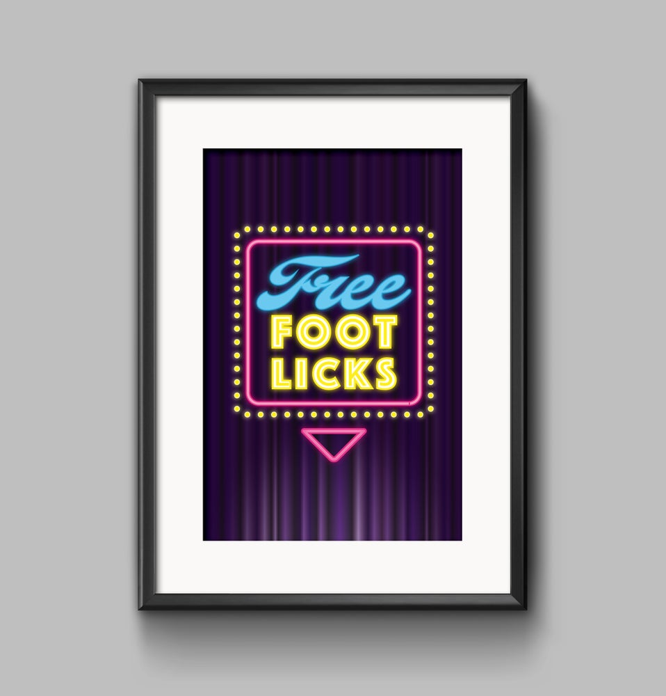 Image of 'Foot Licks' Cockapoo Poster