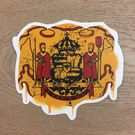 "Image of Coat of Arms 5"" Vinyl Sticker"