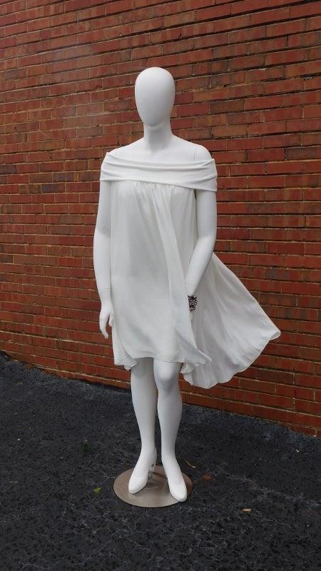 Image of Ivory Off shoulder dress