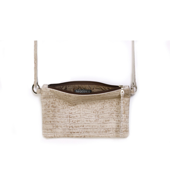 Image of Chelsea Crossbody - embossed Spanish leather