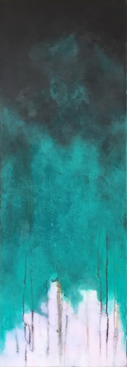 Image of In Silence   Sotto Voce 12x36 inches