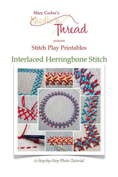 Image of Interlaced Herringbone Stitch Printable