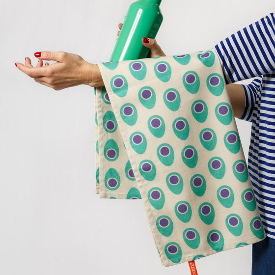Image of POP OUT EGG Tea towels