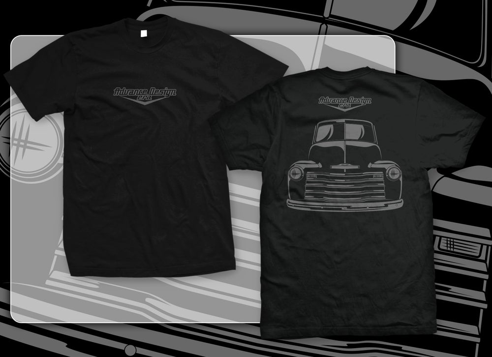 Image of Advance Design Front End (BLACK T-SHIRT)