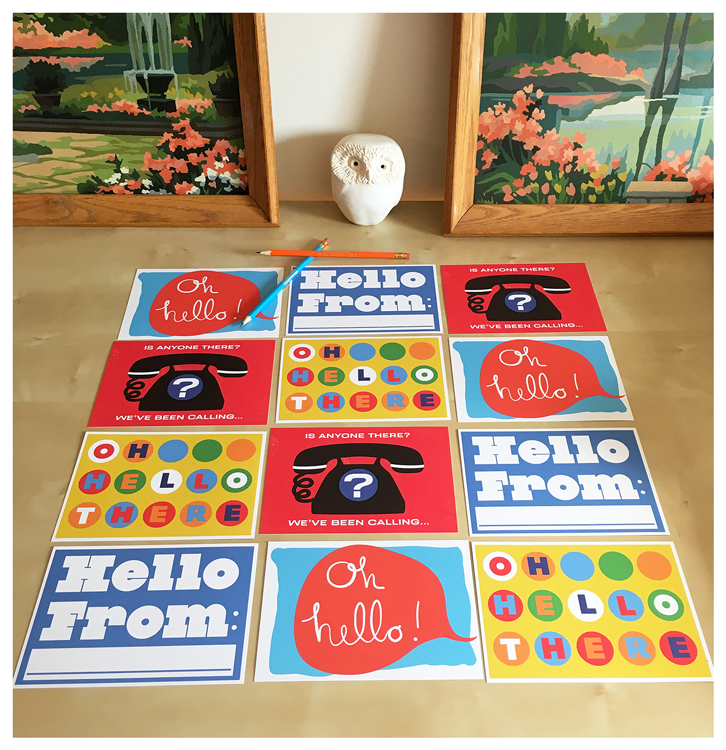 Image of Hello Action Postcard Packs - New!
