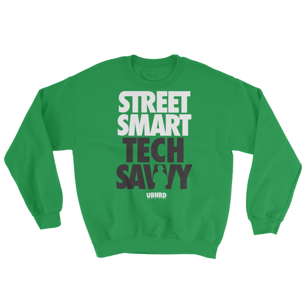 Image of The Hybrid crewneck sweatshirt (GREEN) by Urban Nerd ™