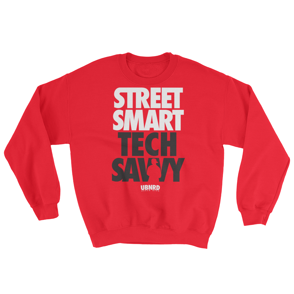 Image of The Hybrid crewneck sweatshirt (RED) by Urban Nerd ™