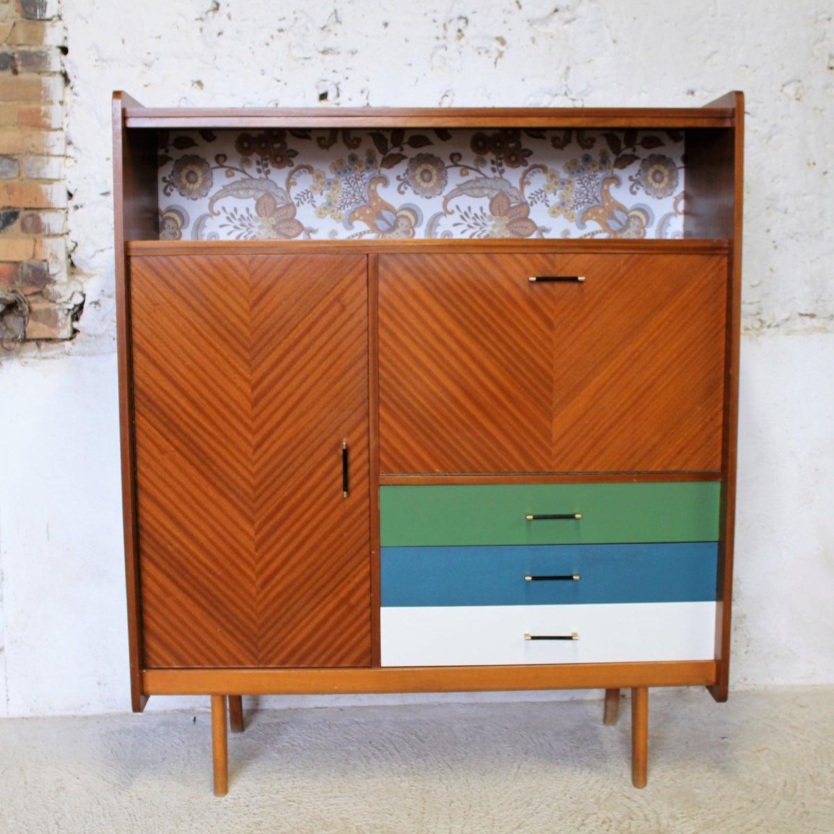 Armoire meuble bar meuble bureau vintage for Meuble bureau armoire