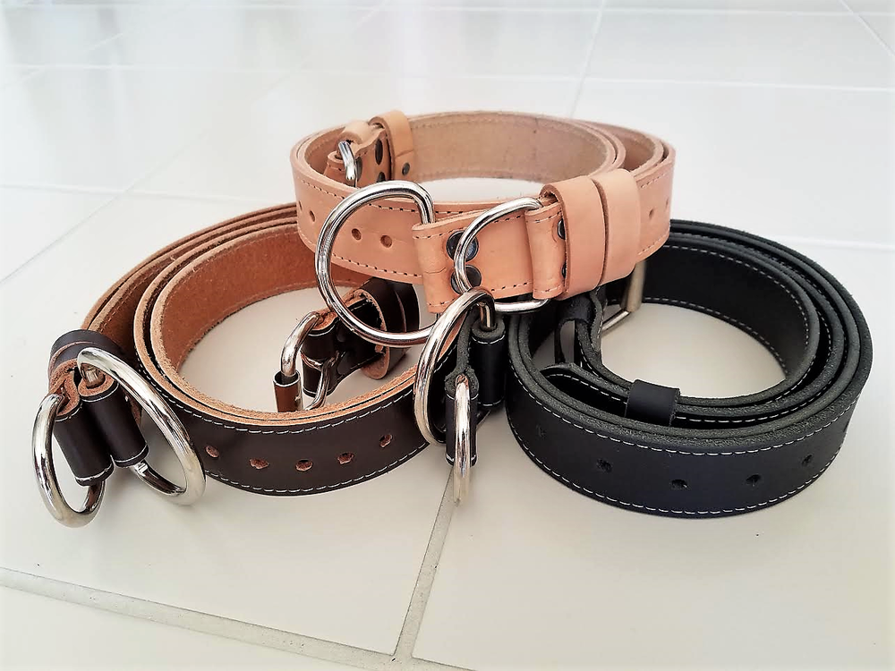 Image of NEW! HIGH QUALITY BUG LEATHER TIE-DOWN STRAPS FOR THAT CLASSIC VINTAGE LOOK. (SET OF 2)