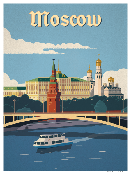 IdeaStorm Studio Store — Moscow River Poster