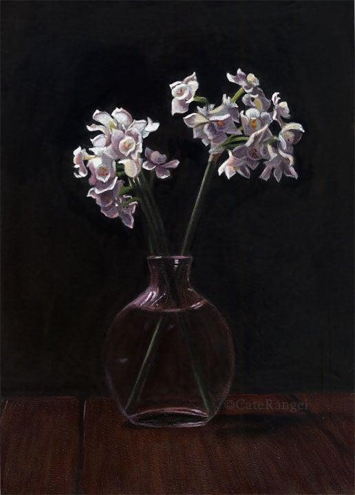 Image of Paperwhites - Framed Original Painting