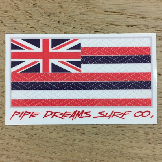 "Image of Hawaiian Tribal Flag 3"" Vinyl Sticker"
