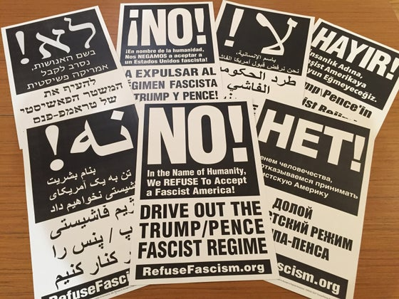 Image of Drive Out Trump/Pence Poster Pack (20 ct)