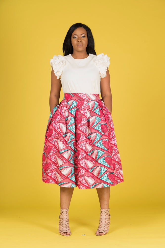 Image of Dorcas stoned Midi Skirt