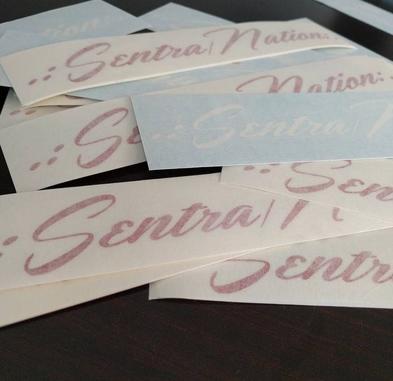 Image of Sentra Nation Official Decal (8.5x1.0) RED & WHITE available!!