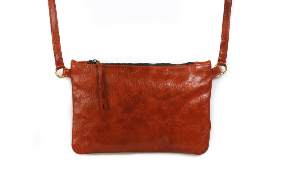 Image of Chelsea Crossbody - deep coral red