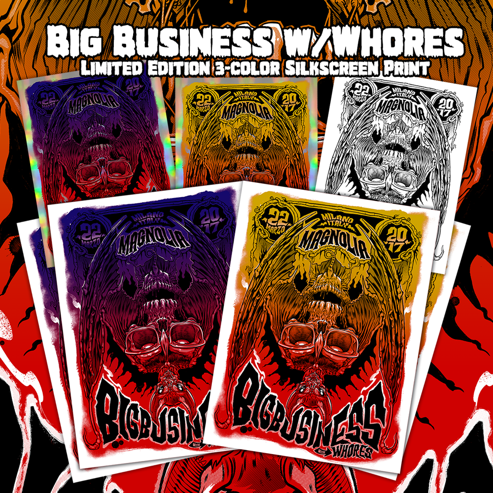 Image of Big Business w/Whores Gig Poster 2017