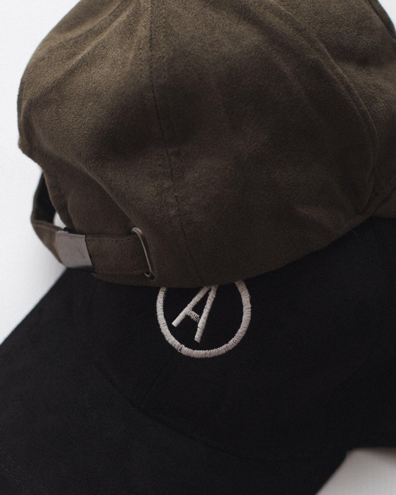 Image of 'REBORN' Suede Baseball Cap - Khaki